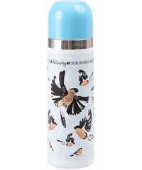 Modrá termoska s ptáčky Disaster Collective Noun Bullfinch