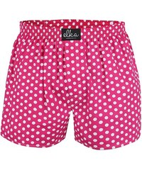 Růžové pánské trenýrky s bílými puntíky El.Ka Underwear