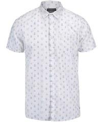 Krémová košile s krátkým rukávem Jack & Jones Cactus