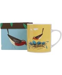Žlutý hrnek s ptáčkem Magpie Robin