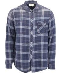 Modrá pánská kostkovaná košile Jeremiah Vaughn
