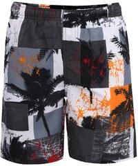 Oranžovo-šedé klučičí plavky s palmami Blue Seven