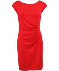 Červené šaty s nabíraným bokem Fever London Portland