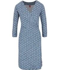 Modré vzorované zavinovací šaty Tranquillo Jamala