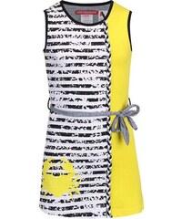 LOVE STATION 22 Bílo-žluté pruhované šaty LoveStation22 Christina