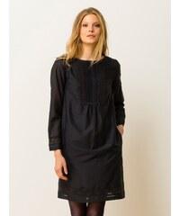 Robe Housse Coton / Soie Manches Longues Somewhere, Couleur Noir