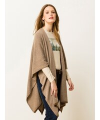Poncho Femme Somewhere, Couleur Beige