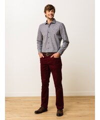 Pantalon Homme Velours Coton/élasthanne Straight Gaya Somewhere, Couleur Bordeaux