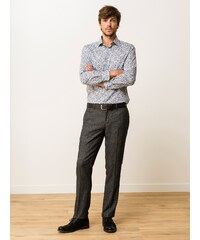 Pantalon Homme Chino En Tweed Somewhere, Couleur Anthracite