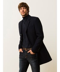 Manteau Homme Drap De Laine Somewhere, Couleur Marine