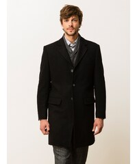 Manteau Homme Drap De Laine Somewhere, Couleur Noir