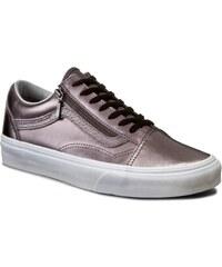 Sneakersy VANS - Old Skool Zip VN00018GIGX (Mtlc Lthr) Thstle Prpl/Twt
