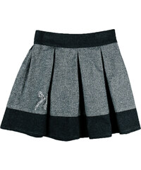 MMDadak Dívčí skládaná sukně - šedo-černá