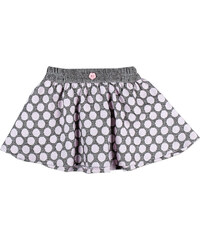 MMDadak Dívčí puntíkovaná sukně - šedo-růžová