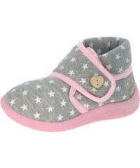 Beppi Dívčí bačkůrky s hvězdičkami - šedé