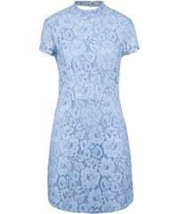 Světle modré krajkované šaty Miss Selfridge
