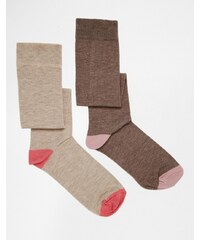 Green Treat - 2-er Pack kniehohe Socken - Rosa