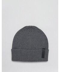 Calvin Klein - Bonnet avec cachemire - Gris