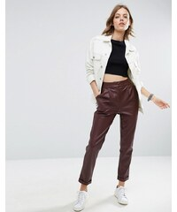 ASOS Leather Look Cigarette Trousers - Mehrfarbig
