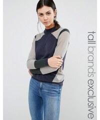 Y.A.S Tall - Pullover mit Kontrasteinsätzen - Mehrfarbig
