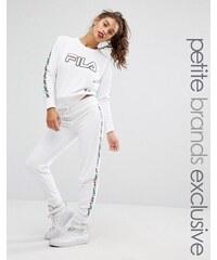 Fila Petite Velour Motif Track Pant - Blanc