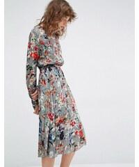 Essentiel Antwerp - Marcher - Robe à manches longues avec imprimé floral - Multi