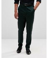 ASOS - Pantalon skinny taille haute à petit motif cachemire - Vert