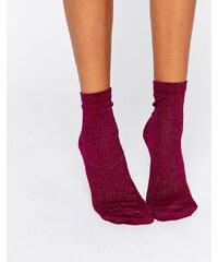 ASOS - Socquettes pailletées - Violet