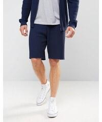 ASOS - Strick-Shorts mit Zopfmuster - Marineblau