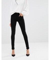 A-Gold-E - Sophie - Jean skinny court taille haute - Noir