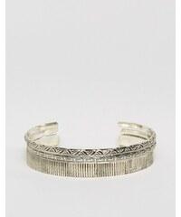 ASOS - Lot de bracelets rigides gravés au fini poli - Argenté