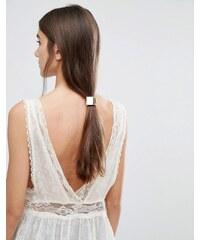 Orelia - Élastique à cheveux géométrique en métal - Doré