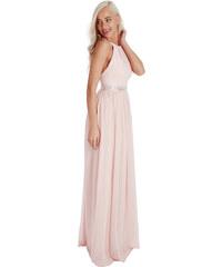 Goddess Dlouhé plesové šaty PENELOPE NUDE Barva: Tělová,