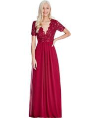 56a49f768a46 CITYGODDESS Dlouhé plesové šaty LAUREN WINE