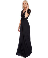 Goddess Dlouhé plesové šaty LAUREN BLACK Barva: Černá,