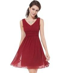 Ever Pretty letní šaty krátké bordo 3909 d23380b52b