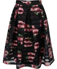 Černá květovaná sukně Apricot