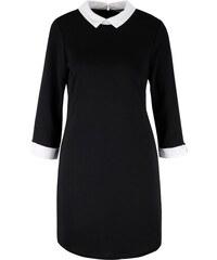 Černé šaty s límečkem VILA Tinny