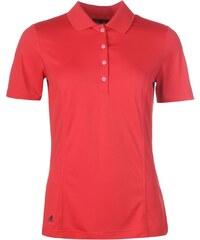 Sportovní polokošile adidas Essential Golfing dám. červená/černá