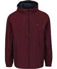 Modro-vínová oboustranná bunda s kapucí Original Penguin Reversible