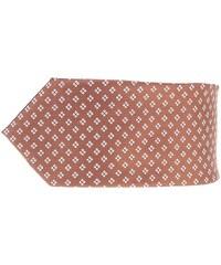 Hnědá vzorovaná kravata Burton Menswear London