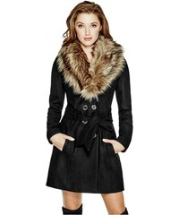 GUESS GUESS Alina Double-Breasted Coat - jet black