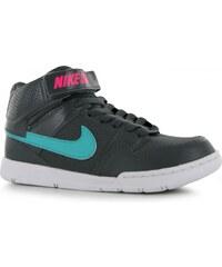 Nike Mogan Mid Hi Trainers, dkgrey/pink