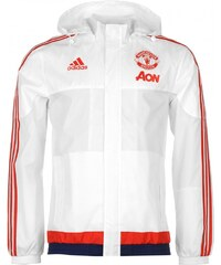 Adidas Manchester United Training Jacket Mens, white/red