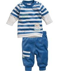 Schnizler Unisex Baby Jogginganzug Nicki Blockstreifen, 2-Teilig Langarmshirt und Hose, Oeko-Tex Standard 100