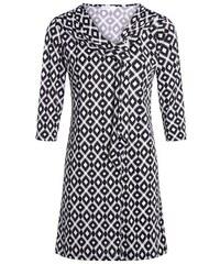 Robe motif graphique col cravate Noir Polyester - Femme Taille 36 - Cache Cache
