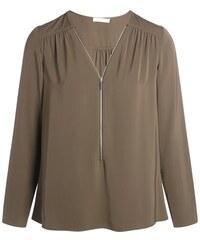 Tunique effet plissé col zippé Vert Polyester - Femme Taille 0 - Cache Cache