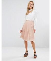 Fashion Union - Jupe mi-longue en tissu plissé - Rose