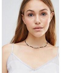 Ashiana - Collier ras du cou à perles - Noir