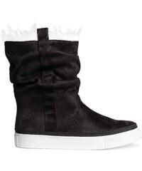 H&M Vysoké zateplené boty